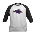 Fish Print Kids Baseball Jersey
