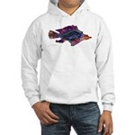 Fish Print Hooded Sweatshirt