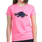 Fish Print Women's Dark T-Shirt