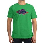 Fish Print Men's Fitted T-Shirt (dark)