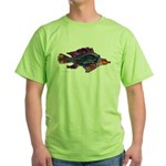 Fish Print Green T-Shirt