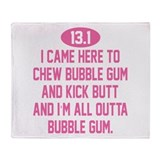 Funny Bubble gum Throw Blanket