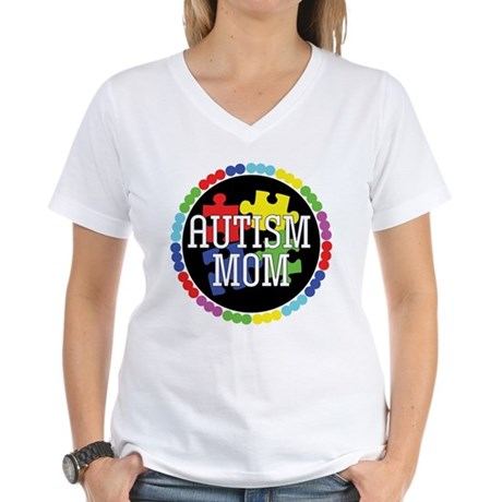 Autism Mom Women's V-Neck T-Shirt