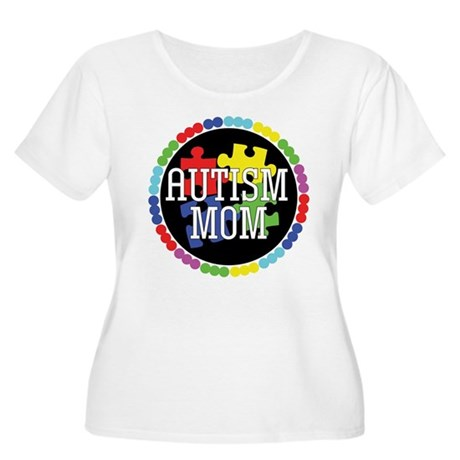 Autism Mom Women's Plus Size Scoop Neck T-Shirt