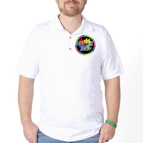 Autism Dad Golf Shirt