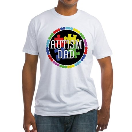 Autism Dad Fitted T-Shirt
