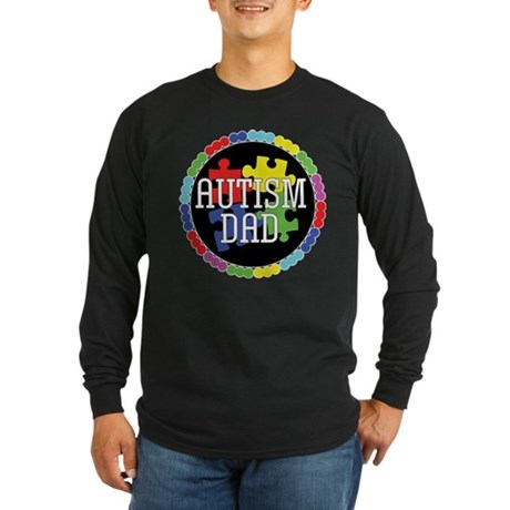 Autism Dad Long Sleeve Dark T-Shirt