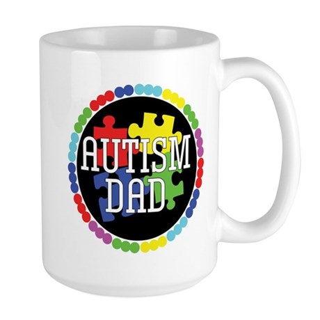 Autism Dad Large Mug