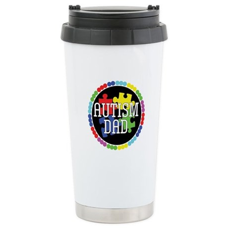 Autism Dad Ceramic Travel Mug