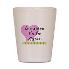 Grandpa To Be Again Stripes Shot Glass