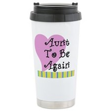 Aunt To Be Again Stripes Travel Mug