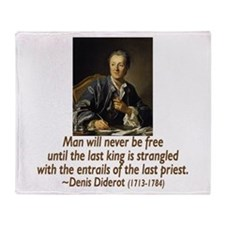 No Kings, No Priests Throw Blanket