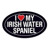 I Love My Irish Water Spaniel Oval Sticker/Decal
