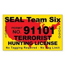Seal Team Six Terrorist Hunting Decal