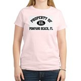 Property of Pompano Beach Women's Pink T-Shirt