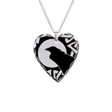 Celtic Raven Moon Necklace