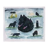 Versatile Belgian Sheepdog Throw Blanket