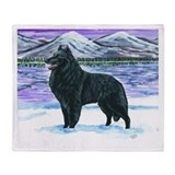 Belgian Sheepdog In Snow Throw Blanket