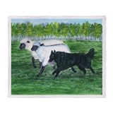 Belgian Sheepdog Herding Throw Blanket