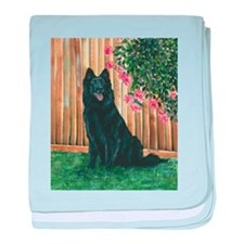 Belgian Sheepdog Happy baby blanket