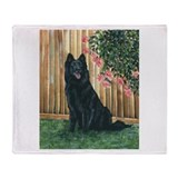 Belgian Sheepdog Happy Throw Blanket