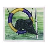 Belgian Sheepdog Agility Throw Blanket
