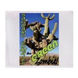 Saguaro Zombies: The Green Zombie Throw Blanket