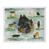 Belgian Tervuren Versatility Throw Blanket