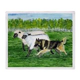 Belgian Tervuren Herding Throw Blanket