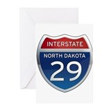 Interstate 29 - North Dakota Greeting Cards (Pk of
