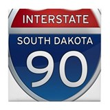 Interstate 90 - South Dakota Tile Coaster