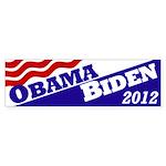 Obama-Biden 2012 flag bumper sticker