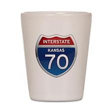 Interstate 70 - Kansas Shot Glass