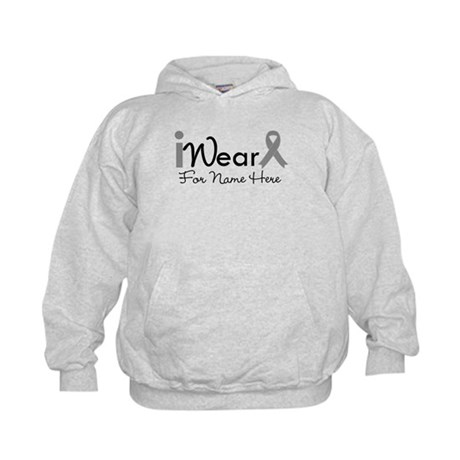 Personalize Brain Cancer Kids Hoodie