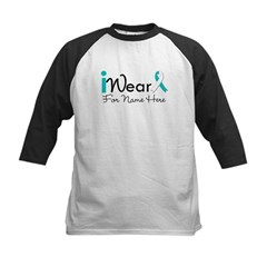 Personalize Cervical Cancer Kids Baseball Jersey