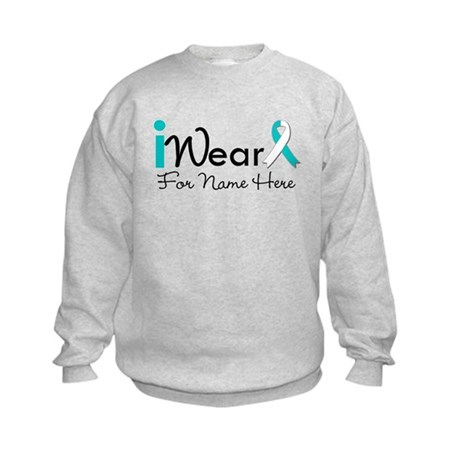 Personalize Cervical Cancer Kids Sweatshirt
