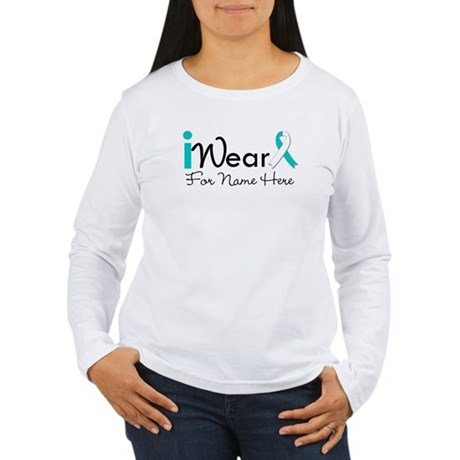 Personalize Cervical Cancer Women's Long Sleeve T-