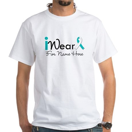 Personalize Cervical Cancer White T-Shirt
