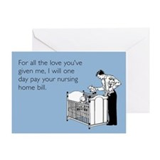 Nursing Home Bill Greeting Card
