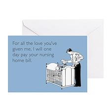 Nursing Home Bill Greeting Card
