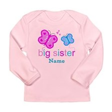 big sister butterfly custom Long Sleeve Infant T-S
