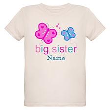 big sister butterfly custom T-Shirt