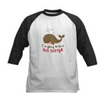 Big Sister to be - Mod Whale Kids Baseball Jersey