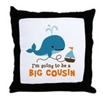 Big Cousin to be - Mod Whale Throw Pillow