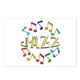 Golden Jazz Postcards (Package of 8)