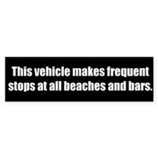 This vehicle makes frequent stops (Bumper Sticker)