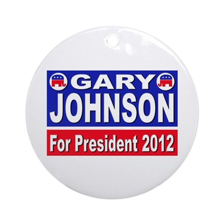 Gary Johnson for President Ornament (Round)