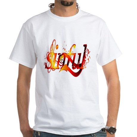 """Sinful"" White T-Shirt"