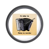 I'd rather be playing my accordion - Wall Clock