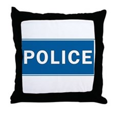 Police Theme Throw Pillow